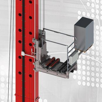 Regalbediengerät Einmaster mit 2 LAM, Detail